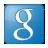 Social Google Box Blue Icon