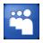 Social Myspace Box Blue Icon 48x48 png