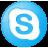 Social Skype Button Blue Icon