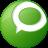 Social Technorati Button Green Icon 48x48 png