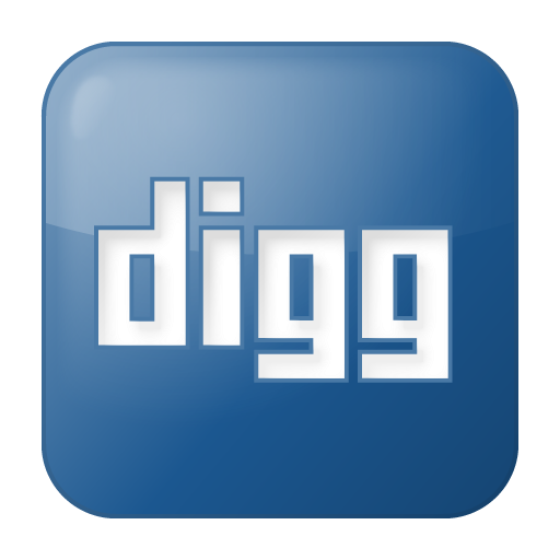 Social Digg Box Blue Icon 512x512 png
