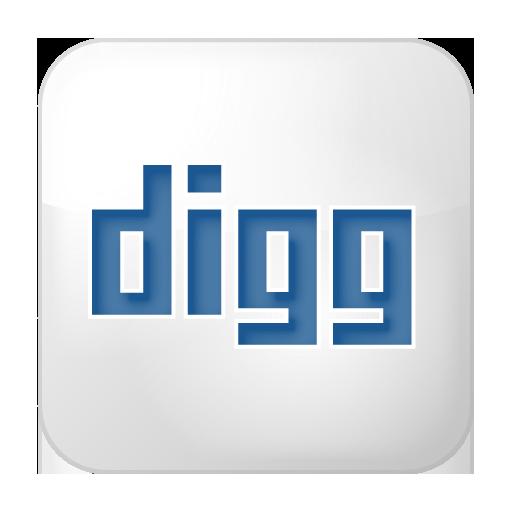 Social Digg Box White Icon 512x512 png