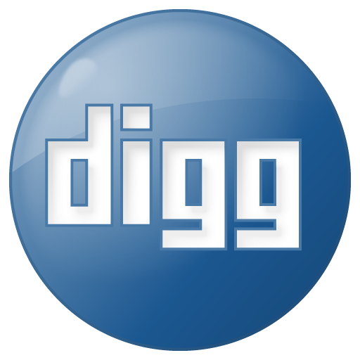 Social Digg Button Blue Icon 512x512 png