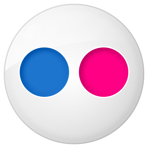 Social Flickr Button Icon 512x512 png