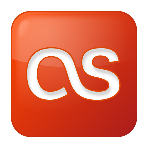 Social Last.fm Box Red Icon 512x512 png