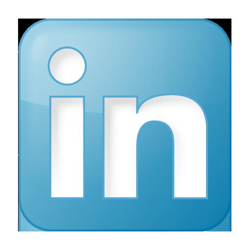 Social LinkedIn Box Blue Icon 512x512 png