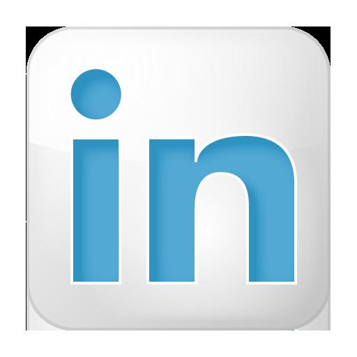 Social LinkedIn Box White Icon 512x512 png