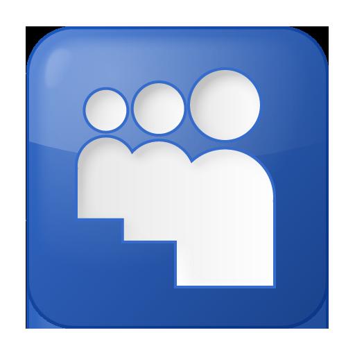 Social Myspace Box Blue Icon 512x512 png