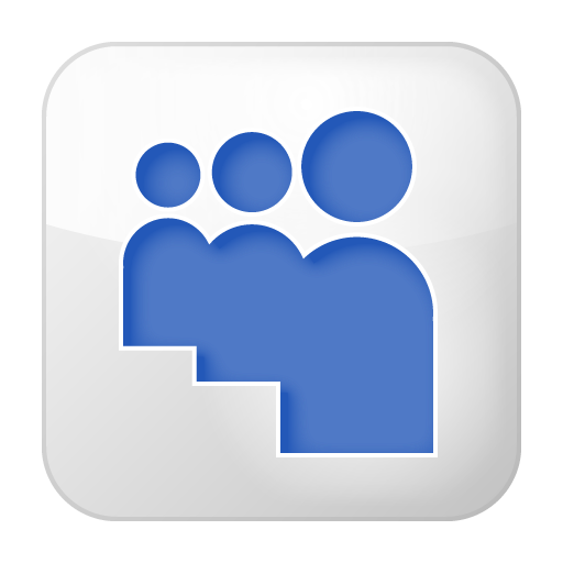 Social Myspace Box White Icon 512x512 png