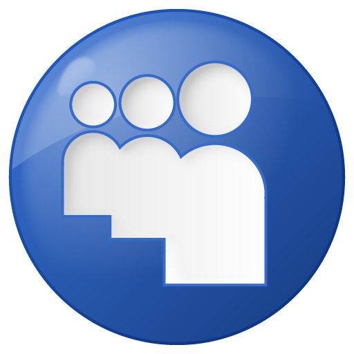 Social Myspace Button Blue Icon - Social Bookmarks Icon ...