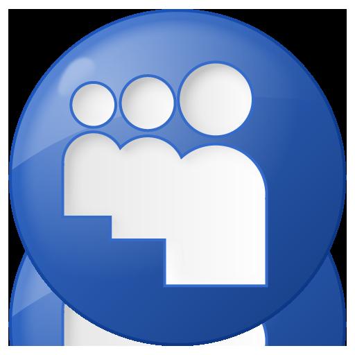 Social Myspace Button Blue Icon 512x512 png