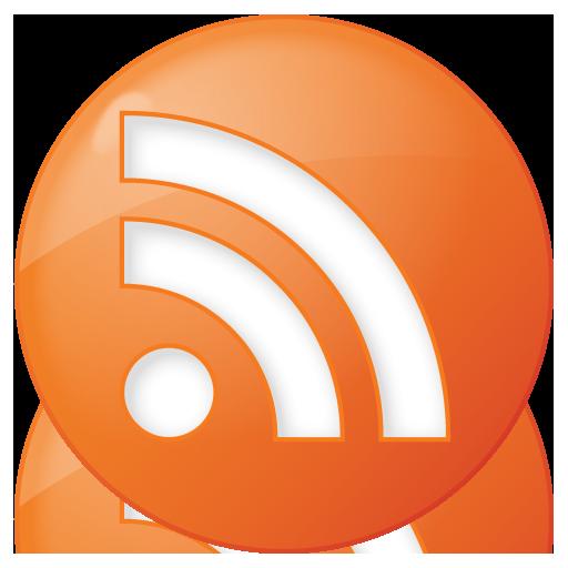 Social RSS Button Orange Icon 512x512 png