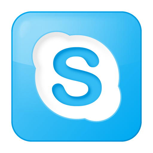 Social Skype Box Blue Icon 512x512 png