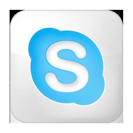 Social Skype Box White Icon 512x512 png