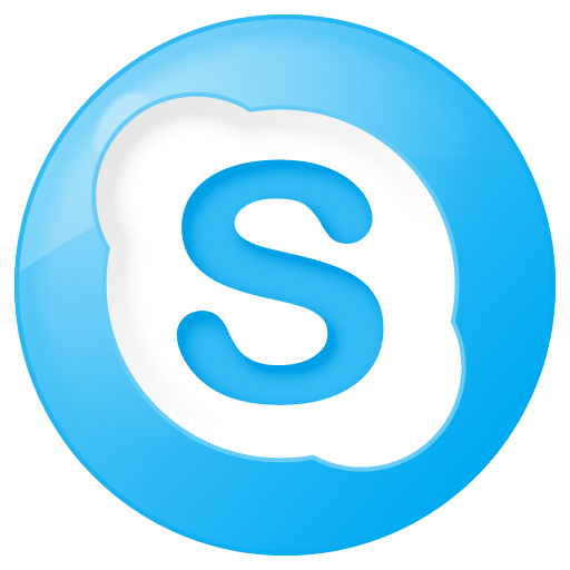 Social Skype Button Blue Icon 512x512 png