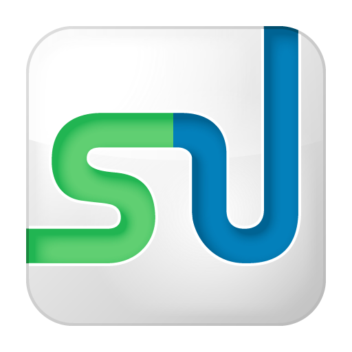Social StumbleUpon Box White Icon 512x512 png