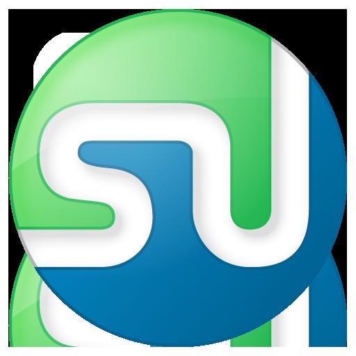 Social StumbleUpon Button Color Icon 512x512 png