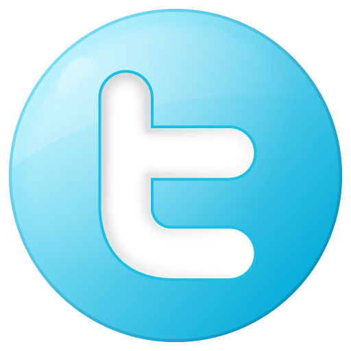 Social Twitter Button Blue Icon 512x512 png