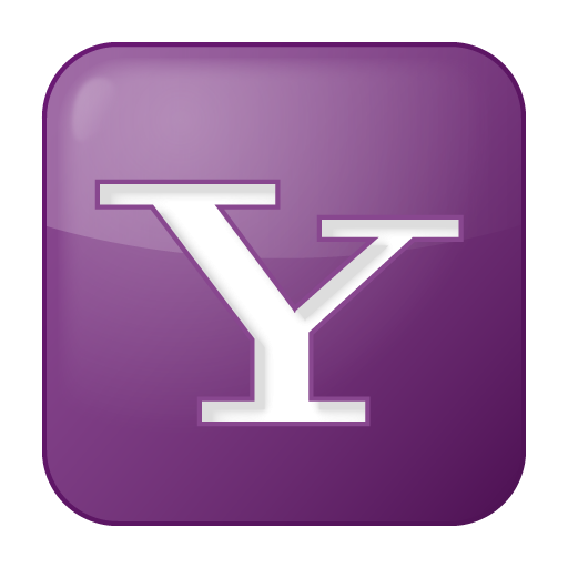 Social Yahoo Box Lilac Icon 512x512 png