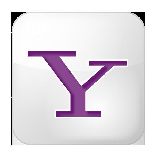 Social Yahoo Box White Icon 512x512 png