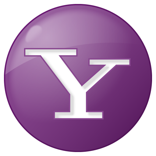 Social Yahoo Button Lilac Icon 512x512 png