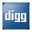 Social Digg Box Blue Icon 64x64 png