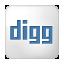 Social Digg Box White Icon 64x64 png