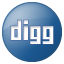 Social Digg Button Blue Icon 64x64 png