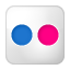 Social Flickr Box Icon 64x64 png
