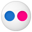 Social Flickr Button Icon 64x64 png