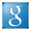 Social Google Box Blue Icon 64x64 png