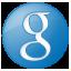 Social Google Button Blue Icon 64x64 png