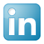 Social LinkedIn Box Blue Icon 64x64 png