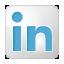 Social LinkedIn Box White Icon 64x64 png