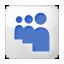 Social Myspace Box White Icon 64x64 png