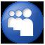 Social Myspace Button Blue Icon 64x64 png