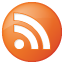 Social RSS Button Orange Icon 64x64 png