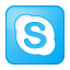 Social Skype Box Blue Icon 64x64 png
