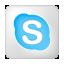 Social Skype Box White Icon 64x64 png