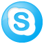 Social Skype Button Blue Icon 64x64 png