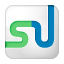 Social StumbleUpon Box White Icon 64x64 png