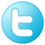 Social Twitter Button Blue Icon 64x64 png