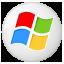 Social Windows Button Icon 64x64 png