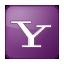 Social Yahoo Box Lilac Icon 64x64 png