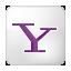 Social Yahoo Box White Icon 64x64 png