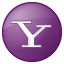 Social Yahoo Button Lilac Icon 64x64 png
