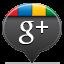Google Plus Black Icon 64x64 png