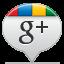 Google Plus White Icon 64x64 png