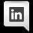Grey LinkedIn Icon 48x48 png