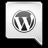 Grey WordPress Icon 48x48 png